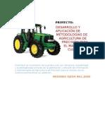 Ante Proyecto Desarrollo y Aplicación de Metodologías de Agricultura de Precisión Para El Manejo de Cultivos Mezones