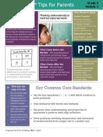 eureka math grade 4 module 3 parent tip sheet