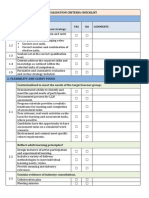 Validation Criteria Checklist
