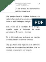 01 05 2013 Conmemoración del Día del Trabajo en Poza Rica