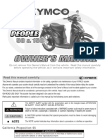 Kymco people 50-150 Owners Manual