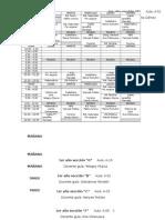 Horarios de Sección 2015-2016
