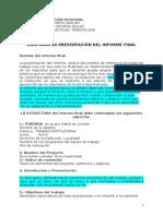 2013 Guía Para Elaborar El Informe Final