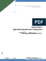 Hunter Allen Wheelbuilder Power Plan