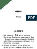 XHTML Tablas