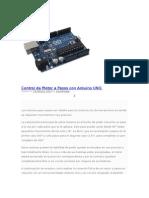 Control de Motor a Pasos Con Arduino UNO