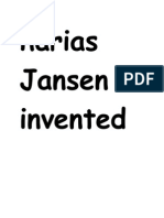 Harias Jansen Invented Microscope