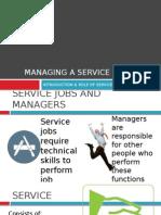 Intro - Managing a Service Enterprise