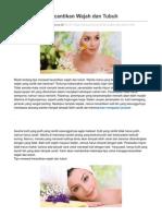 Tips Merawat Kecantikan Wajah Dan Tubuh