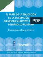 Descarga Informe El Papel de La Educacion en La Formacion Del Bienestar Subjetivo Para El Desarrollo Humano Una Revision Al Caso Chileno Aqui