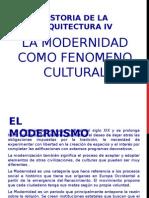 Modernidad como fenómeno cultural
