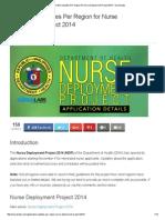 Application Updates Per Region for Nurse Deployment Project 2014 - Nurseslabs