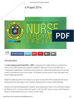 Nurse Deployment Project 2014 - Nurseslabs