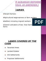 The Code of Agrarian Reforms