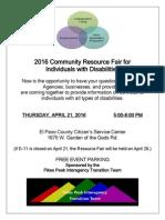 PPITT 2016 Resource Fair flyer