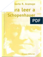 r Aramayo Roberto Para Leer a Schopenhauer
