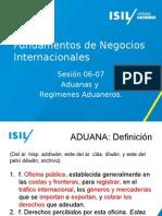 S6-7- Aduanas - Nomenclatura Arancelaria-regímenes Aduaneros
