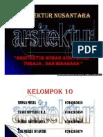 Arsitektur Rumah Adat Bugis, Toraja Dan Minahasa - Presentasi