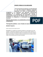 Municipal Transporte Publico en Arequipa