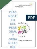 El Diagnóstico Del Personal y ORGANIZACIÓN