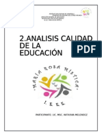 Diagnostico Calidad de La Educacion Final