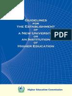 Criteria of University Institutions