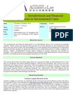 8 Oct - Family Law - Jurisdictional and Financial Implications v.3 (24.7.15)