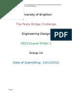 Pasta Bridge Report