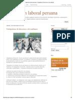 Legislación Laboral Peruana_ Trabajadores de Direccion o de Confianza