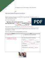 top ten reasons worksheet  1