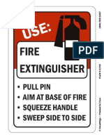 Fire Extinguisher Instruction