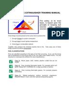 Fire extinguisher training log