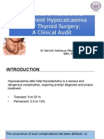 Incidence of Transient & Permanent Hypocalcaemia After Thyroid