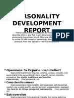 Personality Development Report
