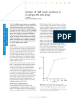 Quantitative Detection of GST Fusion Proteins in Bacterial Lysates Using a 96-Well Array (From Life Science News, Issue 1)