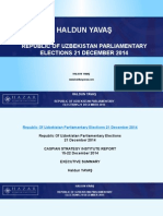 Haldun Yavas - Republic of Uzbekistan Parliamentary Elections 21 December 2014