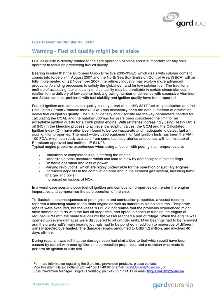 warning fuel quality might be at stake fuel oil combustion rh scribd com