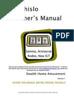 Sammy Pachilso Skill Slot Machine Manual