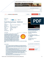 Jobs  _  Supply Planning Manhnjhj,jager - Middle East Job - Shell - Nov 2015  _  Rigzone