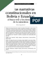 Nuevas Narrativas Constitucionales Ecuador Bolivia