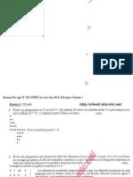 Examen de Passage 2013 tsdi