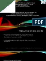 2-PREPARACION DENTARIA CARILLAS INDIRECTAS Pasos Del Tallado de Una Carilla, Instrumental Rotatorio Necesario Para Cada Paso