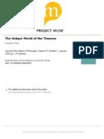 Parry - The Unique World of the Timaeus