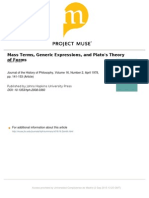 smith - Mass terms, generic expresions, and plato´s theory of forms