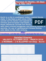 Kerala Winter Package 03 Nights / 04 Days Rs. 8,799/- P.P.P