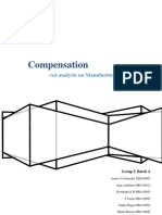 Compensation Analysis of Manufacturing Industries