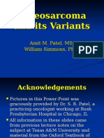 Osteosarcoma and Its Variants Compressed Powerpoint