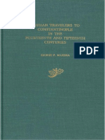 George P. Majeska Russian Travelers to Constantinople in the Fourteenth and Fifteenth Centuries 1984