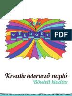 2016, Kreatív Évtervező Napló betekintő