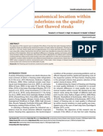 Effects of Anatomical Location Within Pork Tenderloins on the Quality of Fast Thawed Steaks